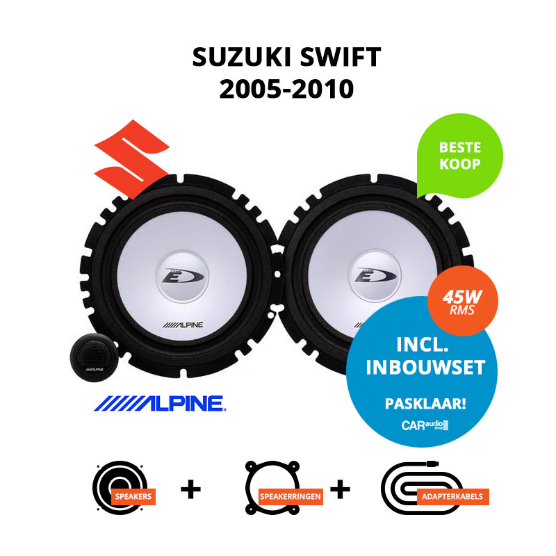 Budget speakers voor Suzuki Swift 2005 2010 (MZ EZ)