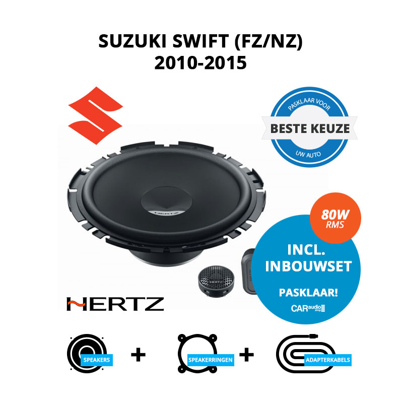 Beste speakers voor Suzuki Swift 2010 2015 (FZ NZ)
