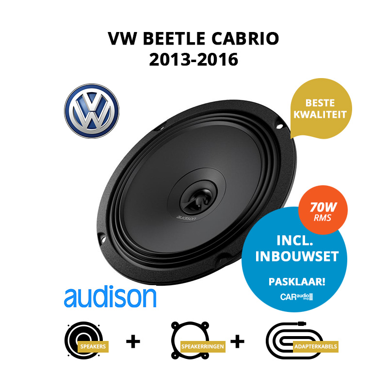 Premium speakers voor VW Beetle Cabrio 2013 2016 A5