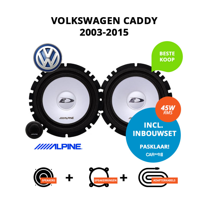 Budget speakers voor Volkswagen Caddy 2003 2015