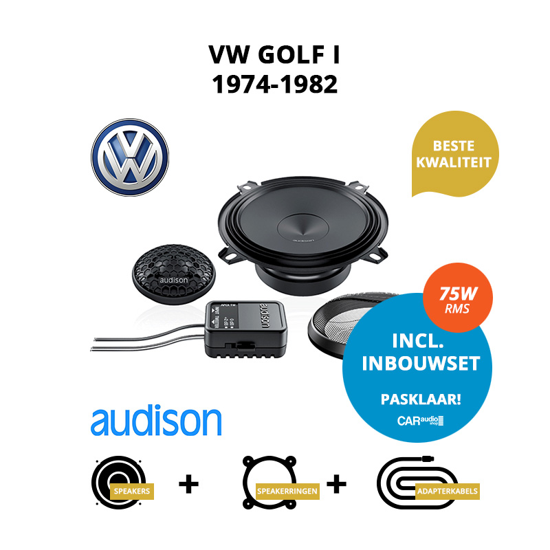 Premium speakers voor VW Golf I 1974 1982