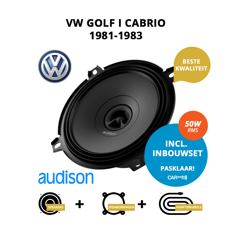 Premium speakers voor VW Golf I Cabrio 1981 1983