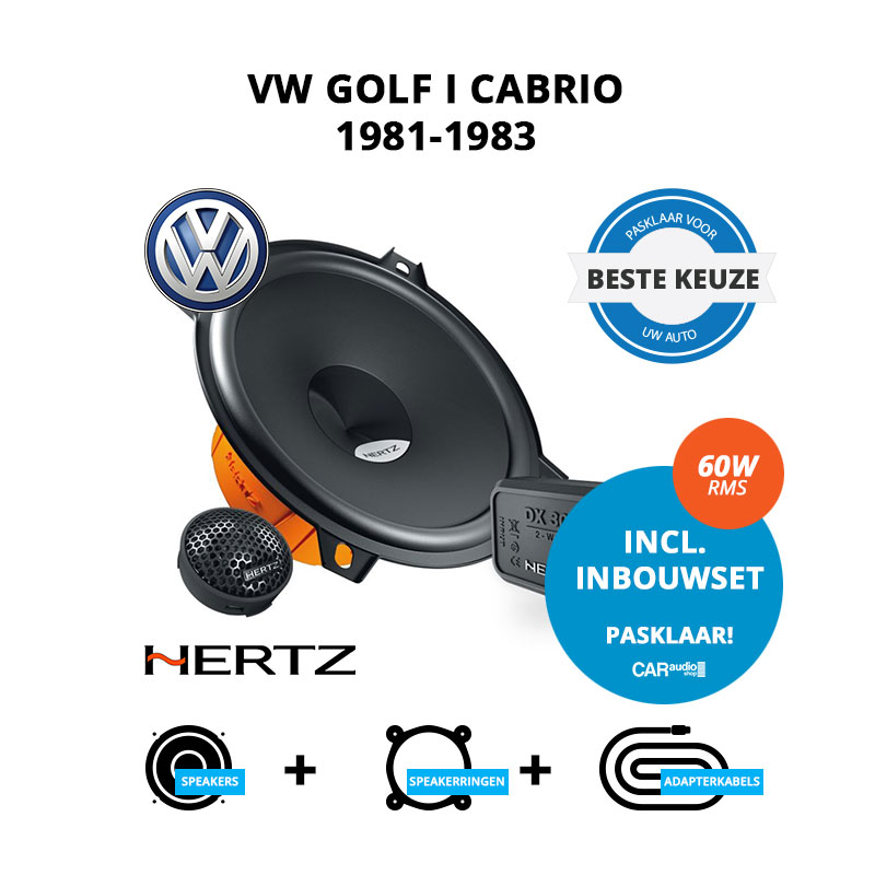 Beste speakers voor VW Golf I Cabrio 1981 1983
