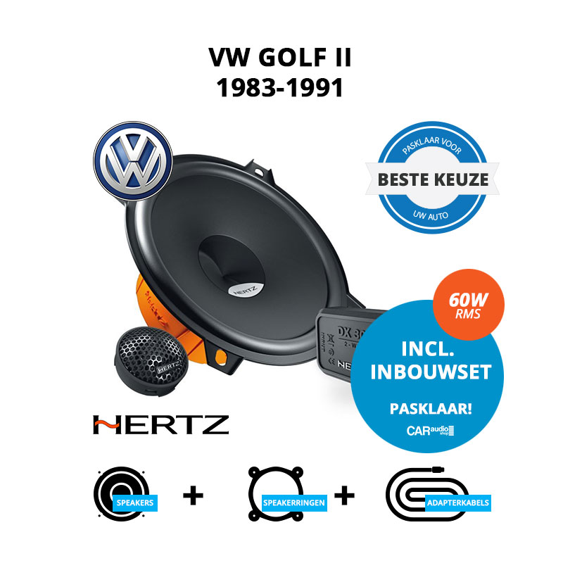 Beste speakers voor VW Golf II 1983 1991