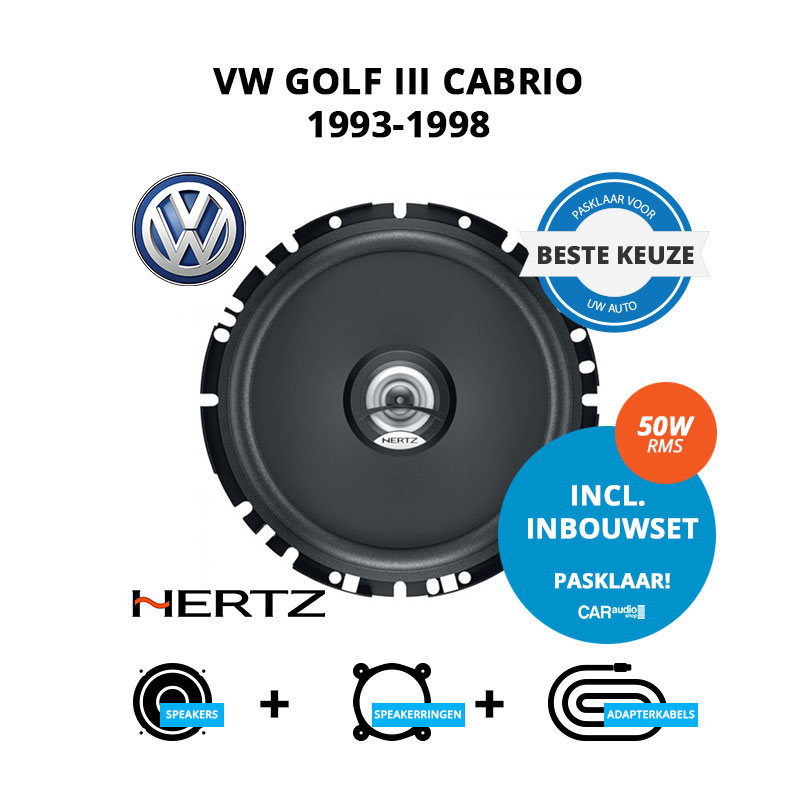 Beste speakers voor VW Golf III Cabrio 1993 1998