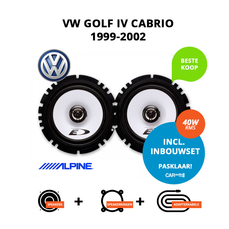 Budget speakers voor VW Golf IV Cabrio 1999 2002